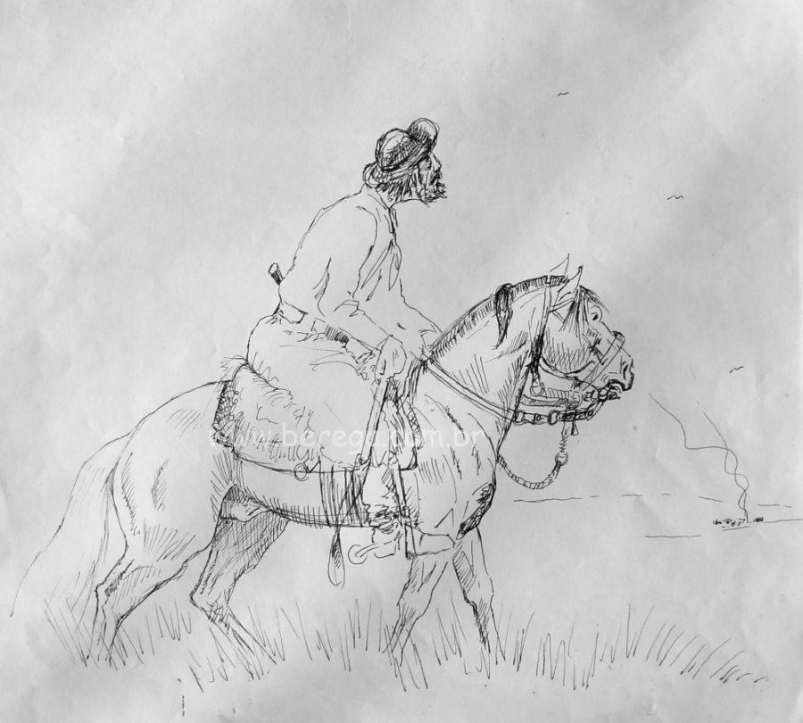 Gaúcho à cavalo